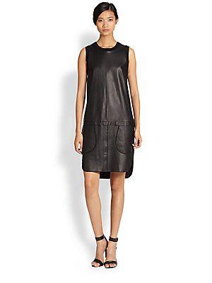 10 Crosby Derek Lam Leather Dress (saksfifthavenue.com)