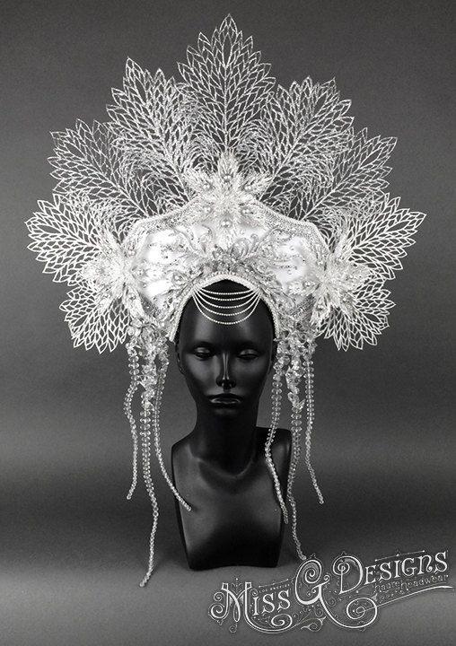 Ice Queen Headdress by MissGDesignsShop on Etsy