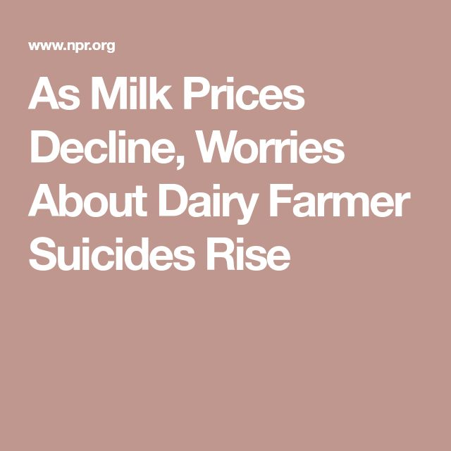 As Milk Prices Decline, Worries About Dairy Farmer Suicides Rise