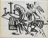 Colin McCahon, Pieta with angel bearing cup]</em>, 1946