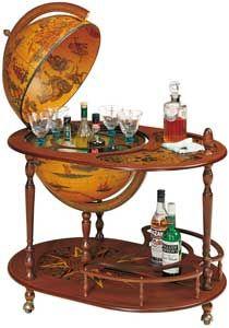 "Imperial King Trolley Globe Bar - Italian 20"" Diameter"