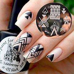 immagine nail art abbastanza bp77 nato stampaggio piastre geometria di progettazione spazio negativo