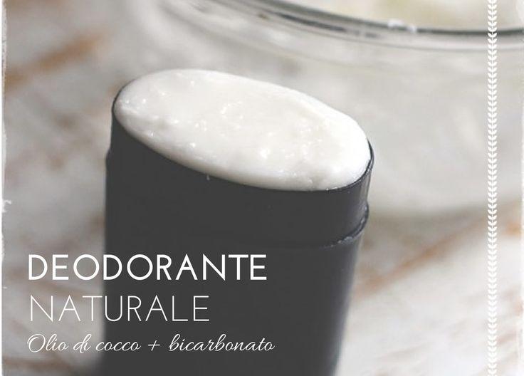 Deodorante naturale olio di cocco e bicarbonato