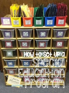 How to organize a teacch task box/work task system in a special education program