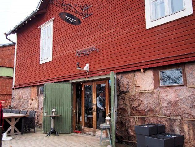 Ravintola Origon sisäänkäynti #visitsouthcoastfinland #hanko #ravintolaorigo #origo #ravintola #restaurant