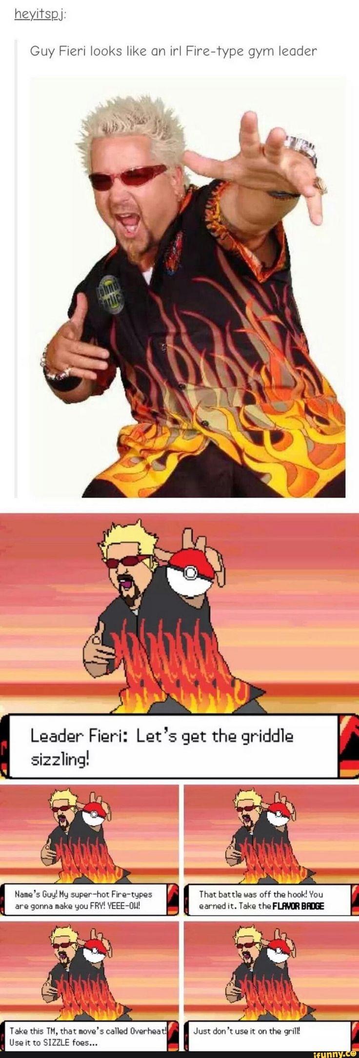 Guy Fieri looks like an irl Fire-Type gym leader - iFunny ...