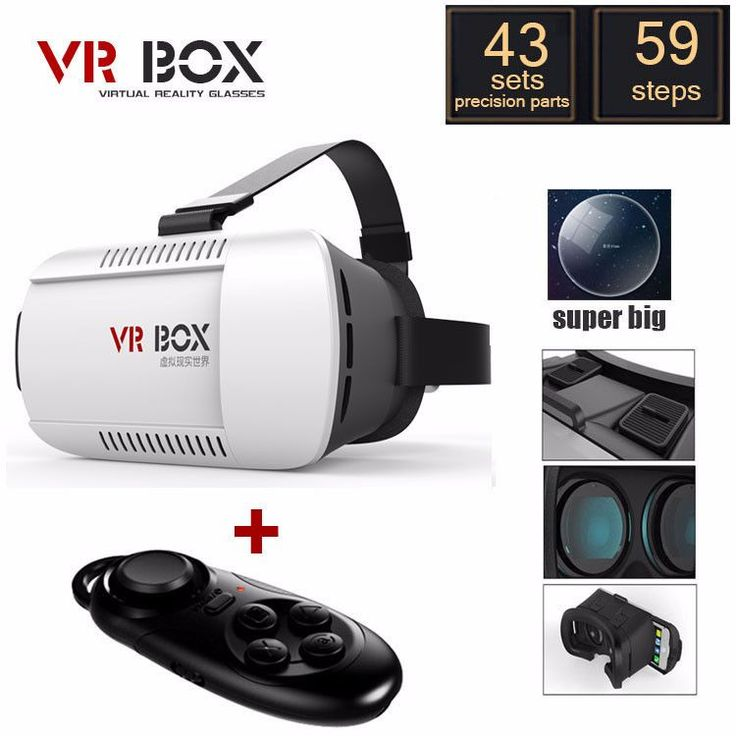 VR BOX Virtual Reality Glasses + Smart Bluetooth Wireless Mouse / Remote Control Gamepad