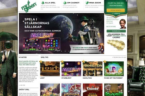 MrGreen ble kåret av oss til «Beste Brukeropplevelse 2013» og en av grunnene er deres enormt utvalg av spilleautomater!