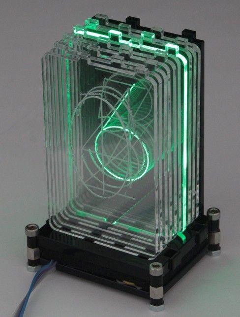 Acrylic RGB Retro Nixie Digit