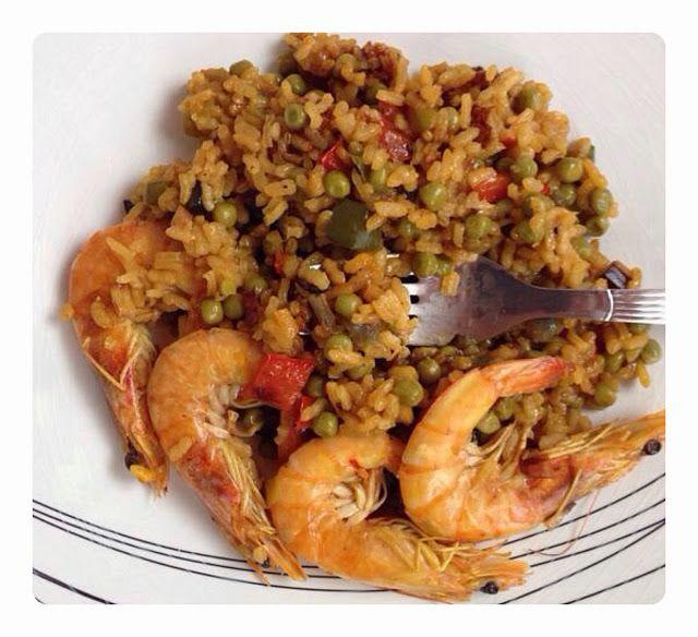 Paella de langostinos - La dieta ALEA - blog de nutrición y dietética, trucos para adelgazar, recetas para adelgazar