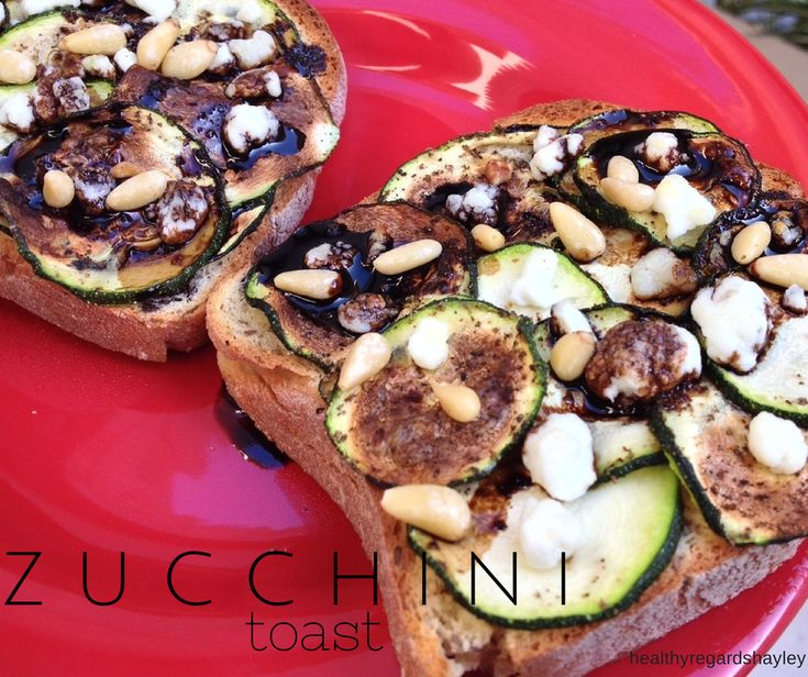Gluten Free Zucchini Toast