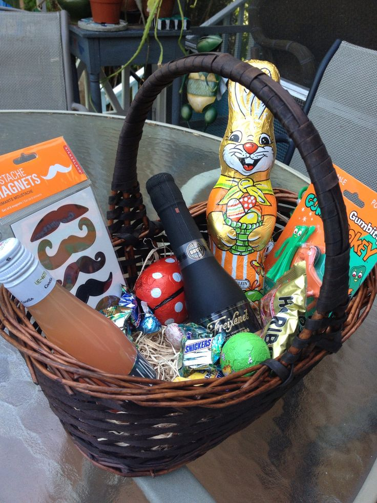 19 best easter images on pinterest easter baskets gift basket an adult easter basket completely with champagne splits negle Gallery