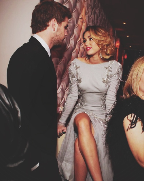 Miley and Liam- old Miley was such a classic.  A true beauty. Now she's anything but classy...