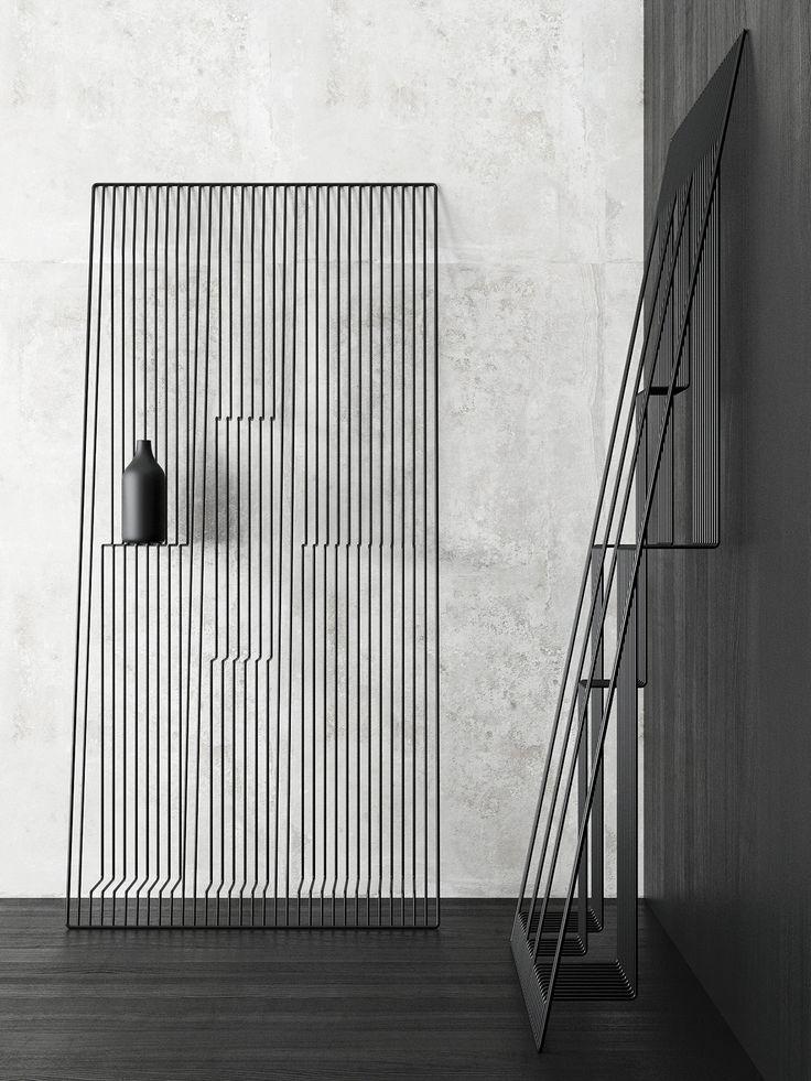 Coup de cœur pour ce projet d'étagère illusion réalisé par le designer ukrainien Dmitry Kozinenko! Toute en légèreté et en finesse, elle est à la fois pra