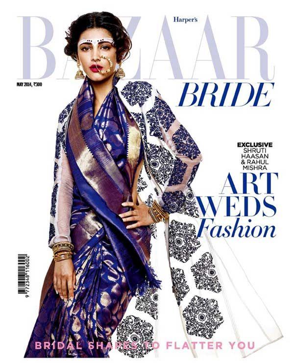 Shruti Hassan 2014 - Harper Bazaar India Bride