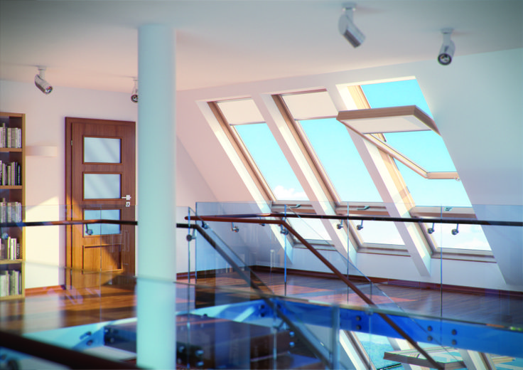 illumina tutta la casa con #luce naturale #windows #light #home #attic #interiordesign www.fakro.it