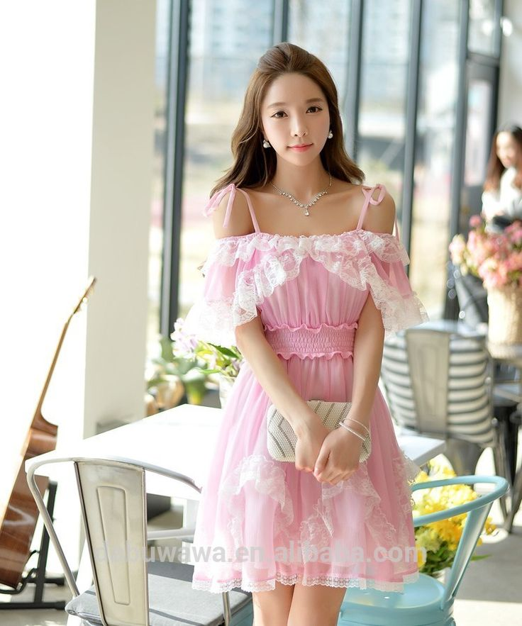Dabuwawa pink chiffon lace dress, View latest chiffon dresses, Dabuwawa Product Details from Shanghai Pink Doll Trading Co., Ltd. on Alibaba.com