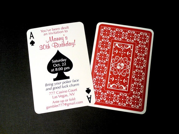 Casino Night Poker Playing Card Theme by PapercutsPartyShop, $12.00