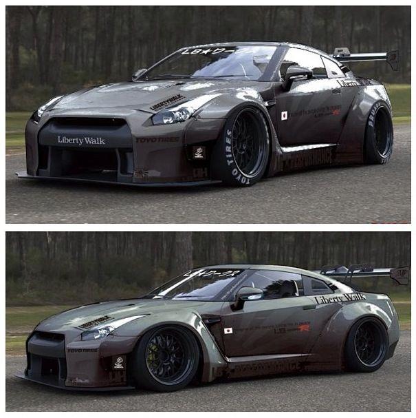 Nissan skyline gtr-5...sexiest car ever. Great engine. I wanna drift!
