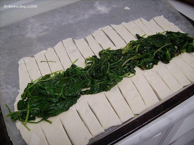 Křehké listy špenátu
