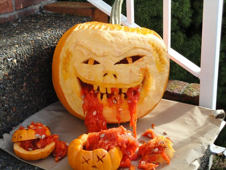 It's Halloween - let's carve cannibal pumpkins!