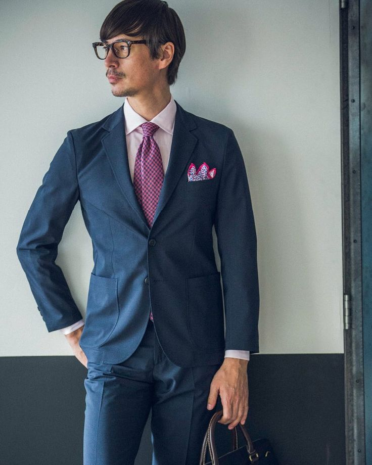 ACTIVE PLUS ネイビーのセットアップスタイルは遊びの効いたVゾーンを演出 #greenlabelrelaxing #mensfashion #menstyle #businessman #suit #グリーンレーベルリラクシング #スーツ by ua_greenlabel