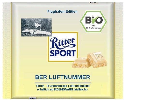 Flughafen-Edition Ritter Sport BER Luftnummer Luftschokolade