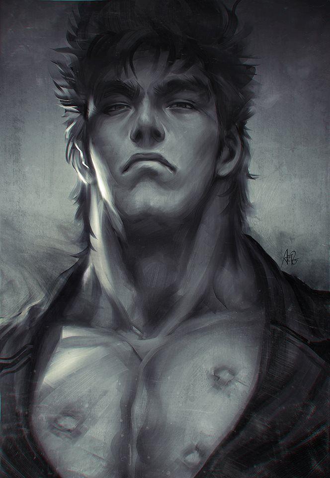 Ken le Survivant, un animé massacré qui mériterait d'être revu en VO. Art magnifique qui ferait un très beau T Shirt. Quel est l'artiste ?