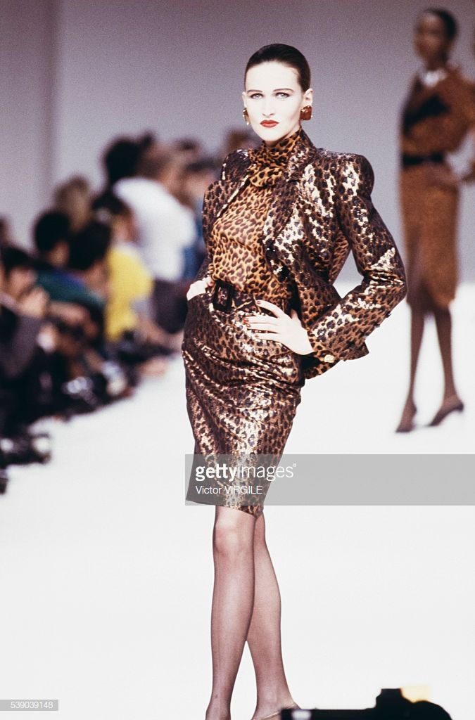 0a28ce3aac4 A model walks the runway at the Yves Saint Laurent Ready to Wear ...