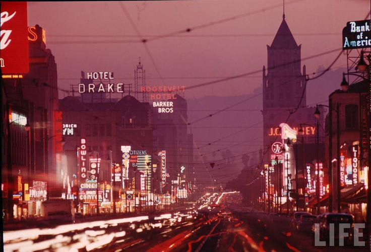Los Angeles 1949: Hollywood Blvd, Hollywood Boulevard, Vintage, California, Busy Hollywood, Los Angeles, Place, L A, City