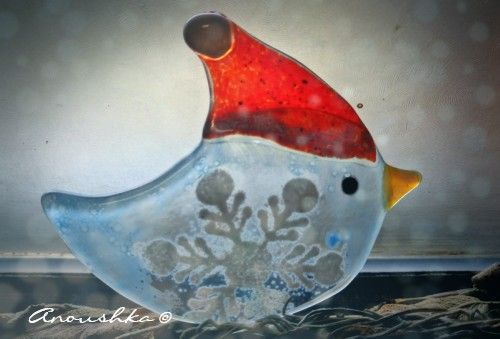 Xmas is around :D #fused glass ornament