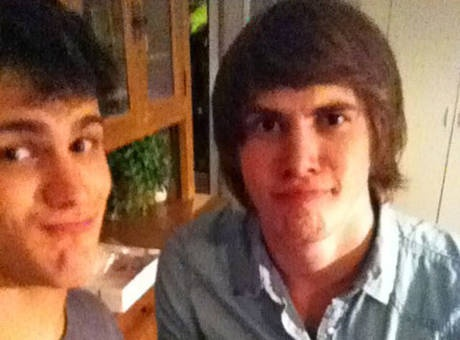 The Glee Project 2's Michael Weisman and Blake Jenner Eat Pie on July 3, 2012