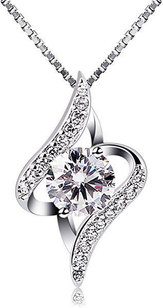 fa8b799d37 B.Catcher donne collana in argento con pendente in zircone: Amazon.it:  Gioielli