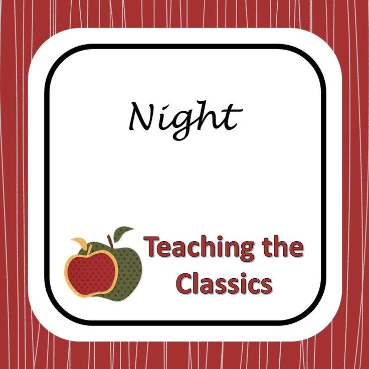 Printable Worksheets night elie wiesel worksheets : 25 best Teaching Night images on Pinterest | Teaching ideas ...