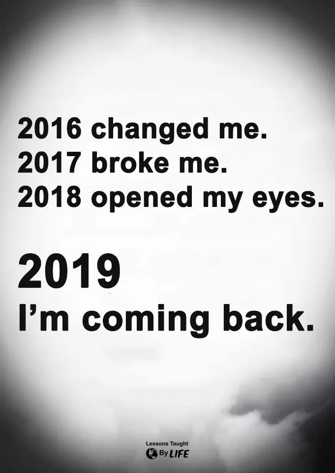 2018 was decent, but love what the new year brings in new opportunities…2019 w…