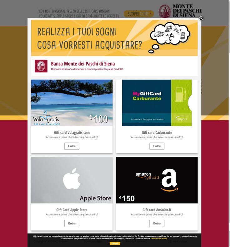 Realizza i tuoi sogni! #madai #giftcard #volagratis #carburante #applestore #amazon