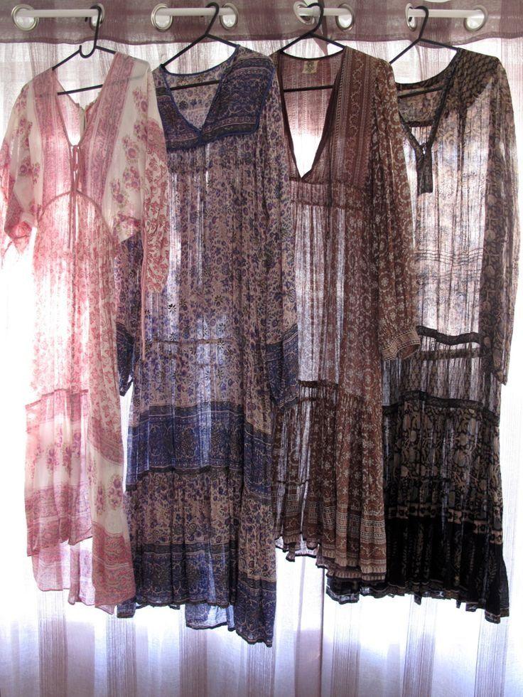 ☮ ➳ American Hippie Bohemian ➳ ☮ - Dresses ... Boho Bohéme Feathers Gypsy Spirit Bizu Baroque Tati Tati