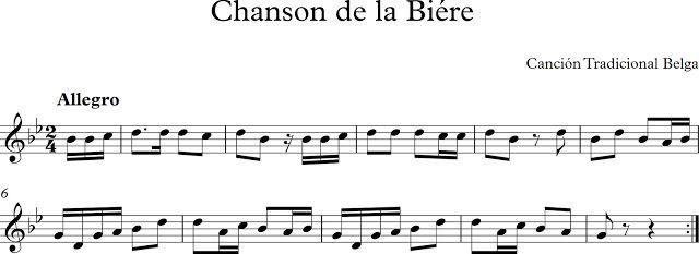 Chanson de la Biére. Canción Tradicional Belga.