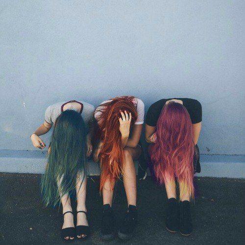 Разноцветные волосы┼