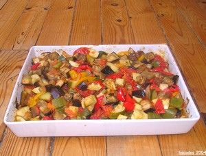 Légumes rôtis confits au four