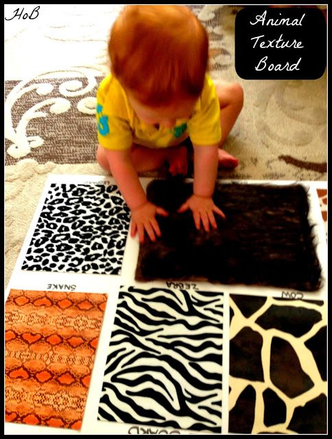 House of Burke: Animal Texture Board: Teaching Baby About Animals Through Sensory Play