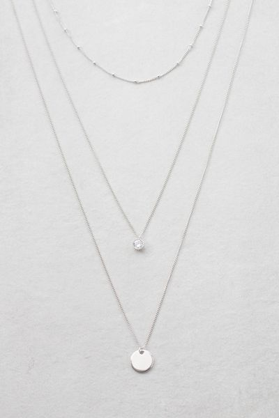 Voyage Layered Necklace Silver In 2019 Jewelry Pinterest