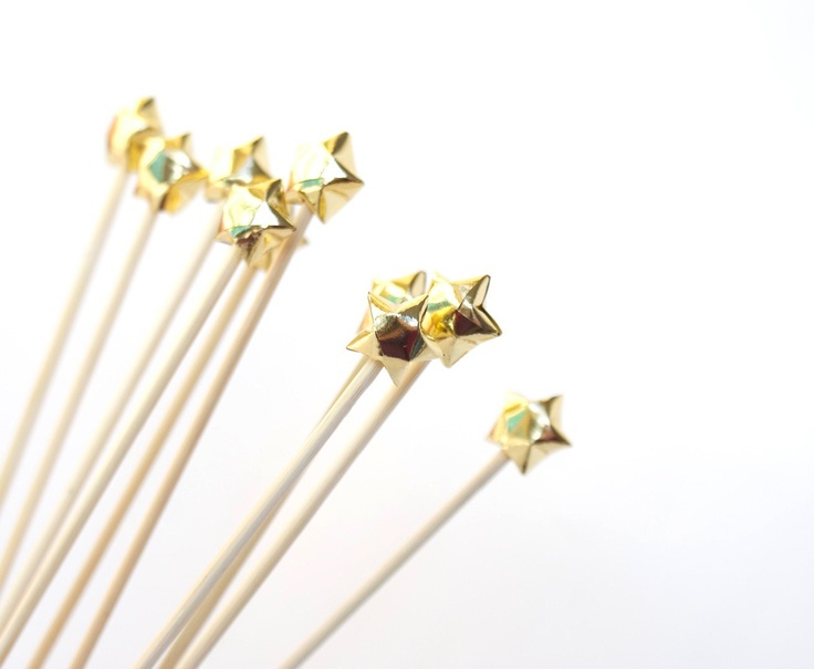 gold cupcake toppers