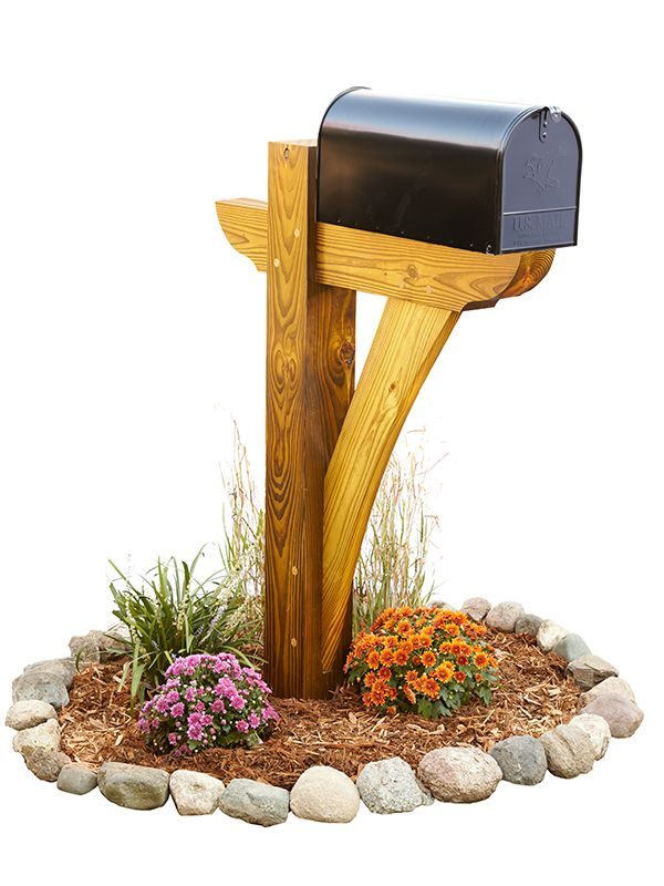 Timber framed mailbox with pressure treated 4x6 beams and for Mailbox post ideas