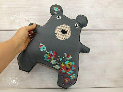 Cross Stitch Doll by MiauBoutique, Bear