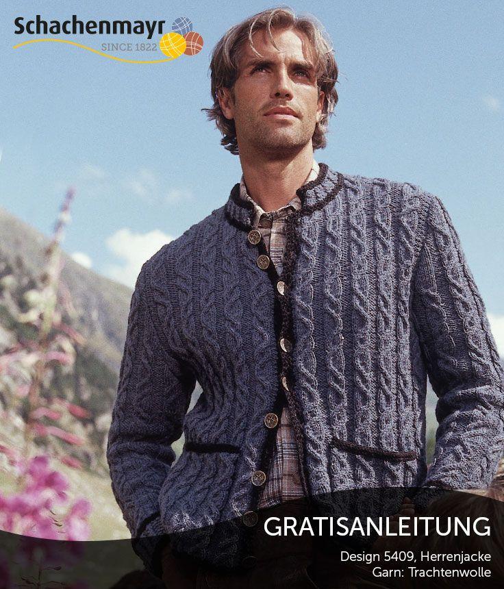 Sind Sie auf der Suche nach einer Jacke zur Tracht? Diese Jacke aus Schachenmayr Trachtenwolle in traditionellem Design gibt nicht nur warm, sie sieht auch gut aus! #TrachtenWolle
