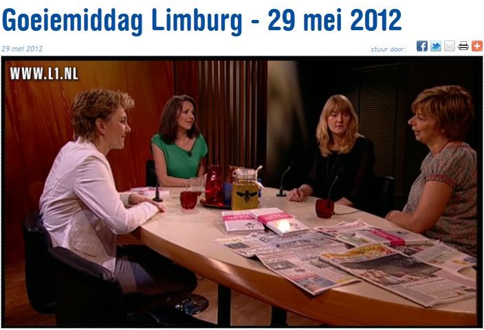 Televisieoptreden Ilse Annegarn en Sylvia Beugelsdijk in 'Goeiemiddag Limburg' bij L1 Televisie.