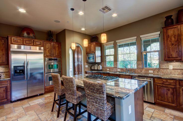 Kitchen, Stainless steel appliances, granite countertop, kitchen bar, kitchnen island