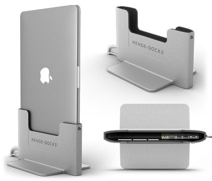 A sleek new metal design for the Vertical Docking Station for MacBook Pro with Retina Display. Now available from Henge Docks!