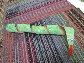 Paper Towel Tube Snakes!
